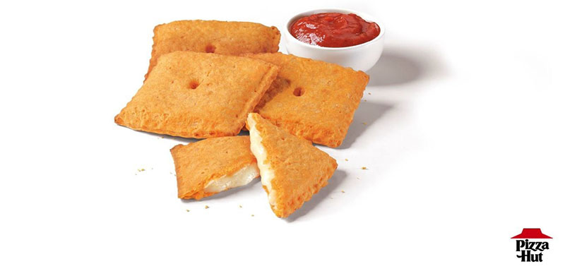 Pizza Hut Cheez-It Pizzas